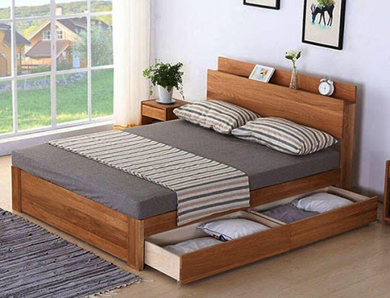 Giuong ngủ thông minh thiết kế có ngăn kéo tiện dụng - M1