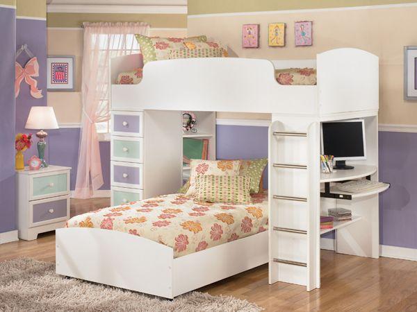 Mẫu giường tầng đa năng dành cho bé gái - M8