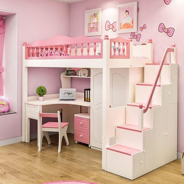 Mẫu giường tầng đa năng dành cho bé gái - M1