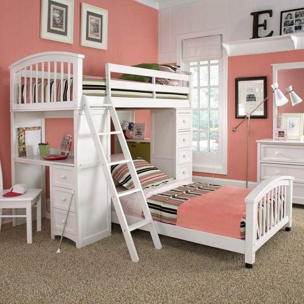 Mẫu giường tầng đa năng dành cho bé gái - M6