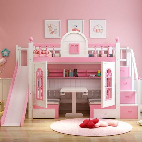 Mẫu giường tầng đa năng dành cho bé gái - M5