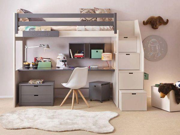 Mẫu giường tầng thông minh kết hợp bàn làm việc cho người đi làm