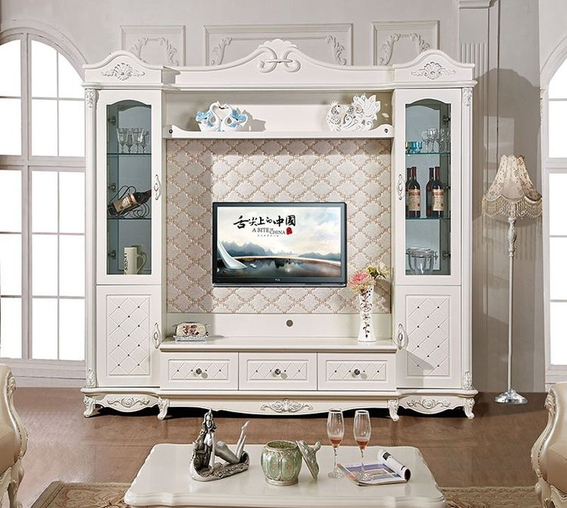 Mẫu thiết kế kệ tivi liền tủ rượu đẹp - sang trọng - M1