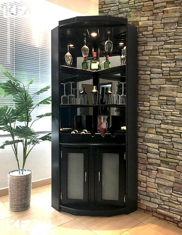 Kích thước tiêu chuẩn tủ rượu góc