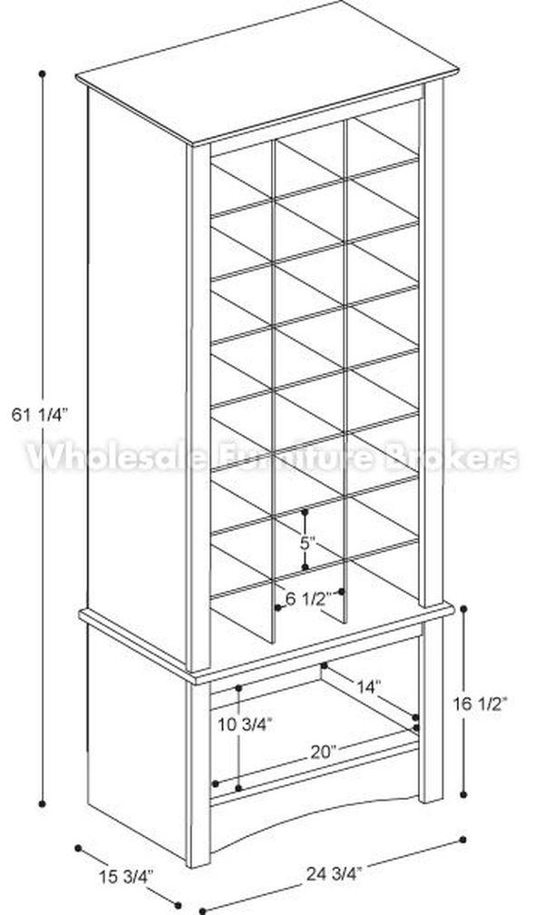 Bản vẽ kích thước tủ trưng bày rượu chi tiết - H4