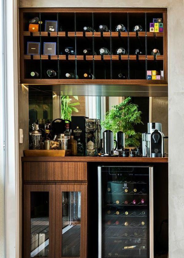 Tủ rượu âm tường thì phần lớn thường phụ thuộc vào kích thước bờ tường