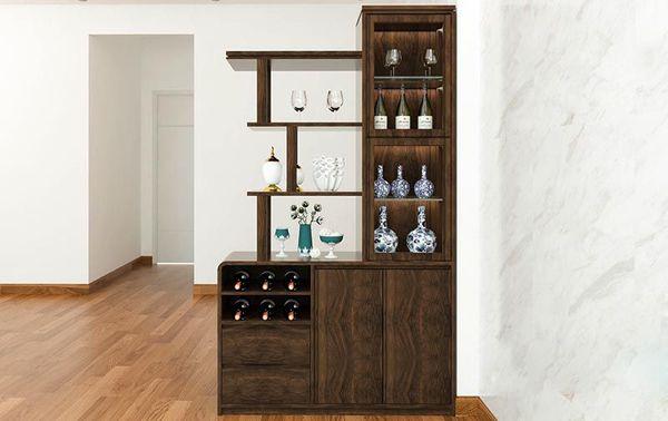 Tủ rượu thường được thiết chiều cao từ 2,4 – 2,5m