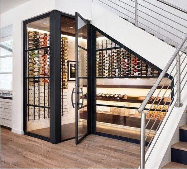Mẫu tủ rượu gầm cầu thang- M2