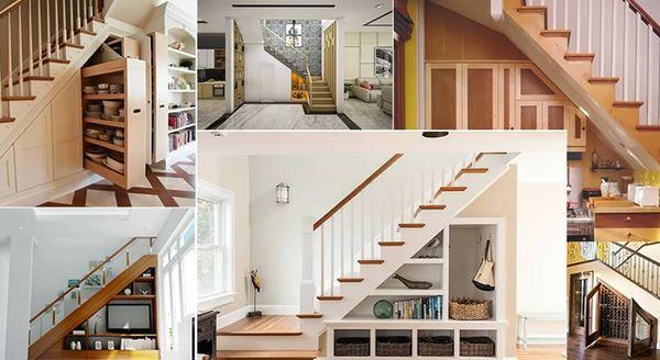 Tủ gầm cầu thang là xu hướng thiết kế của những ngôi nhà hiện đại