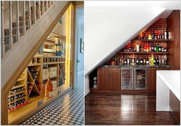 Mẫu tủ rượu gầm cầu thang- M4