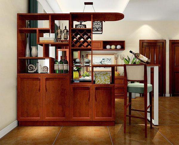 Tủ vách ngăn phòng khách và bếp đẹp sang trọng - M1
