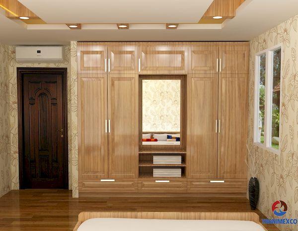 Tủ âm dành cho tường phòng ngủ đẹp sang trọng - M2