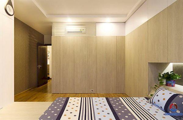 Tủ quần áo âm tường gỗ công nghiệp