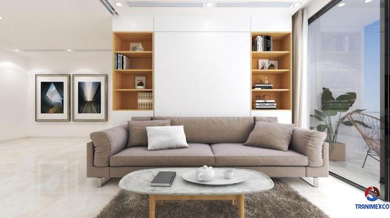 Mẫu tủ trang trí phòng khách gỗ công nghiệp